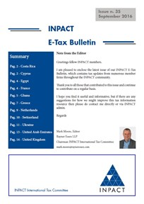 Tax Bulletin 35 Front Page