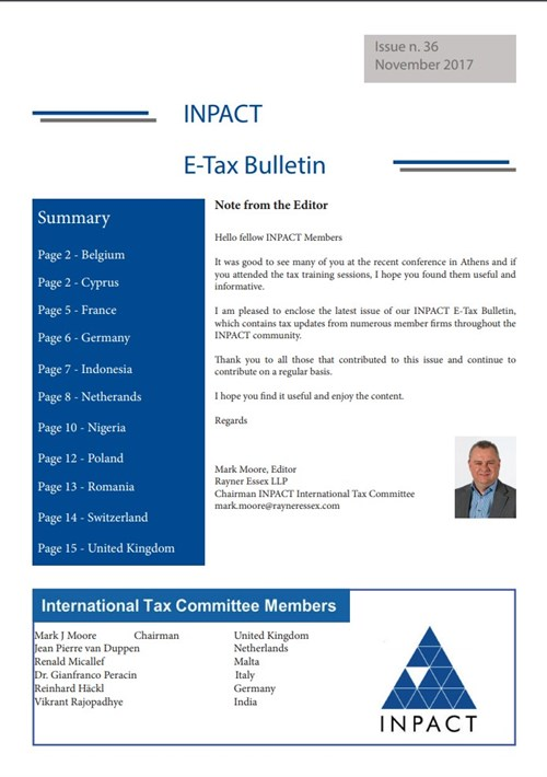 Tax Bulletin Issue 36 Front Page